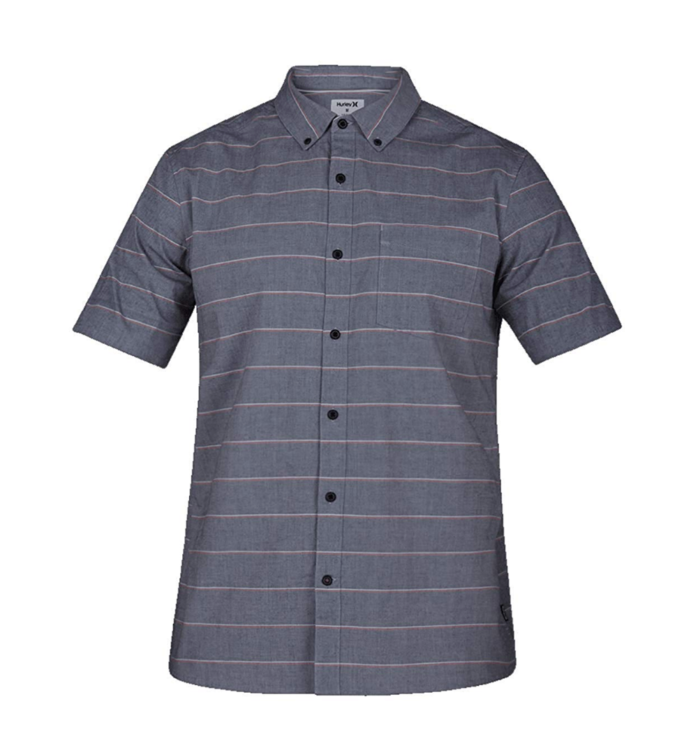 Keanu Stripe Button Down Shirt KIDS - Boys - Clothing - Shirts - Short Sleeve Shirts HURLEY Teskeys