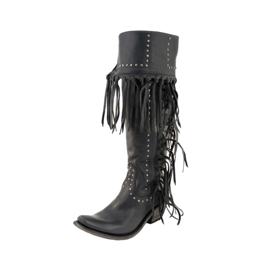 Liberty Black Delano Fringe Boot WOMEN - Footwear - Boots - Fashion Boots LIBERTY BLACK BOOT CO. Teskeys
