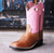 OLD WEST PINK AND TAN KIDS BOOTS KIDS - Footwear - Boots Teskeys Teskeys
