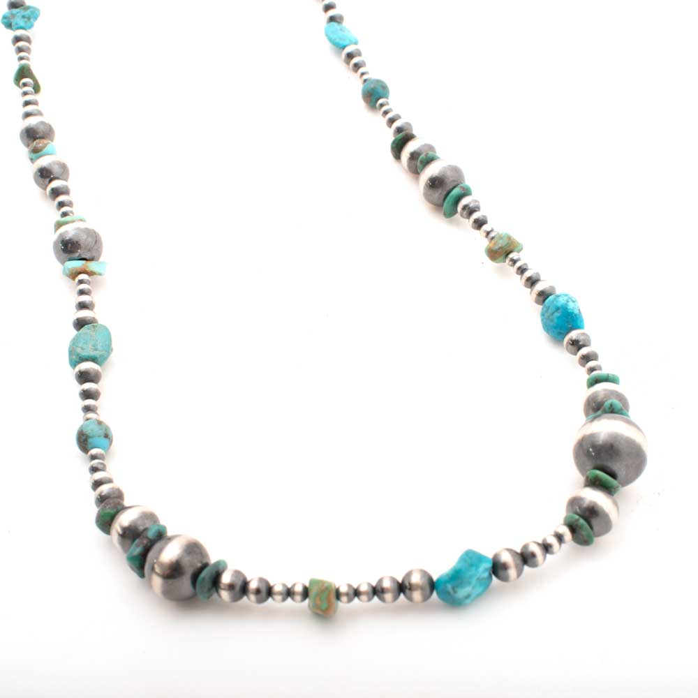 "Desert Pearl & Turquoise 36"" Necklace WOMEN - Accessories - Jewelry - Necklaces Shady Lady & Co Teskeys"