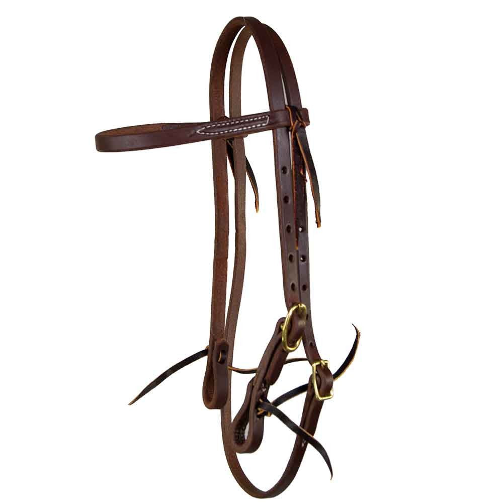 Browband Headstall for Short No Hit Bit Tack No Hit Bit Teskeys