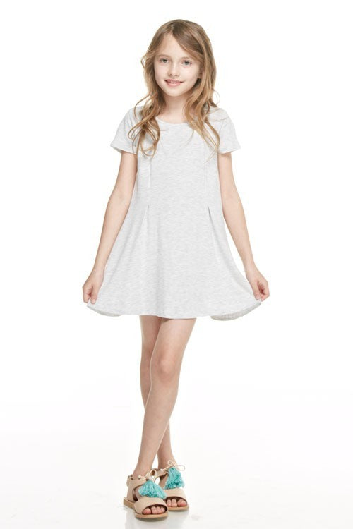 Basic Short Sleeve Dress KIDS - Girls - Clothing - Dresses Teskeys Teskeys
