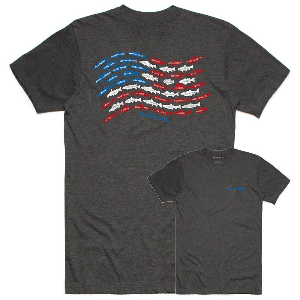 Simms Upstream USA Tee MEN - Clothing - T-Shirts & Tanks SIMMS FISHING Teskeys