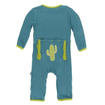 Appliqué Coverall with Zipper KIDS - Baby - Baby Girl Clothing KICKEE PANTS Teskeys