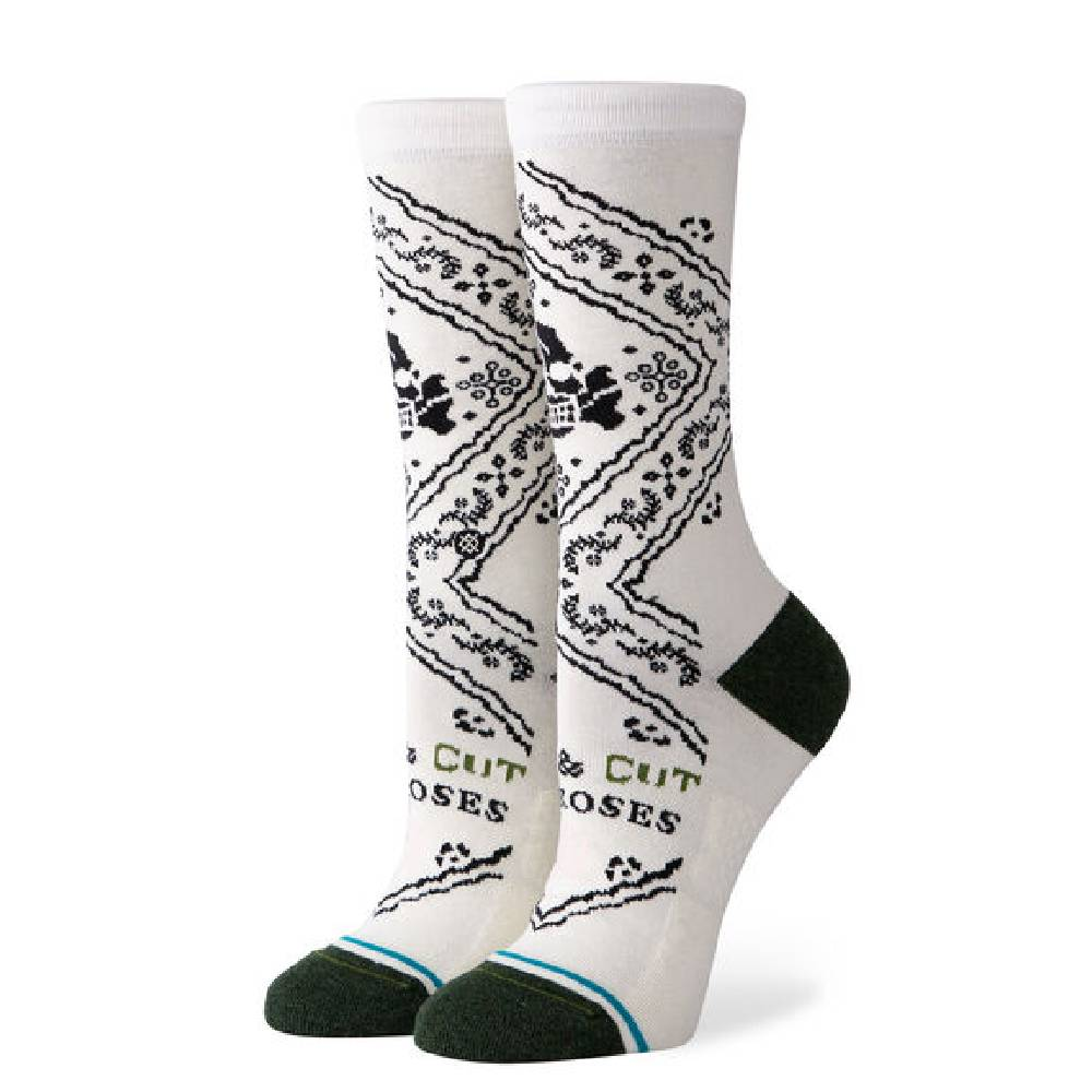 Stance Cut the Roses Crew Sock WOMEN - Clothing - Intimates & Hosiery STANCE Teskeys