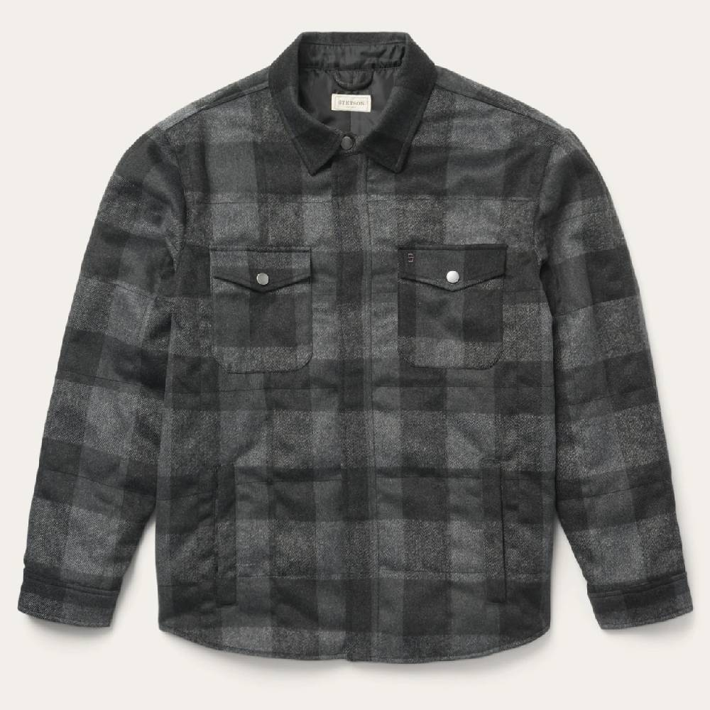 Stetson Buffalo Plaid Lined Jacket MEN - Clothing - Outerwear - Jackets ROPER APPAREL & FOOTWEAR Teskeys