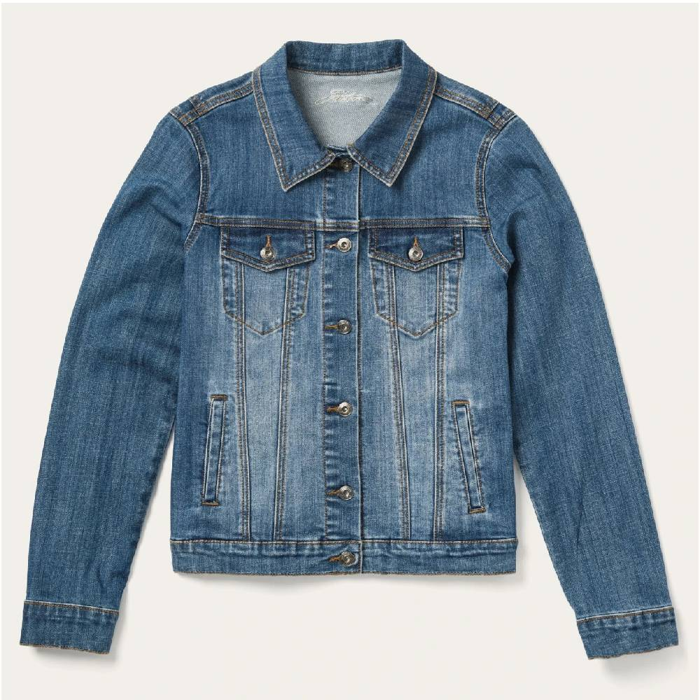 Stetson Women's Oversized Denim Jacket WOMEN - Clothing - Outerwear - Jackets ROPER APPAREL & FOOTWEAR Teskeys