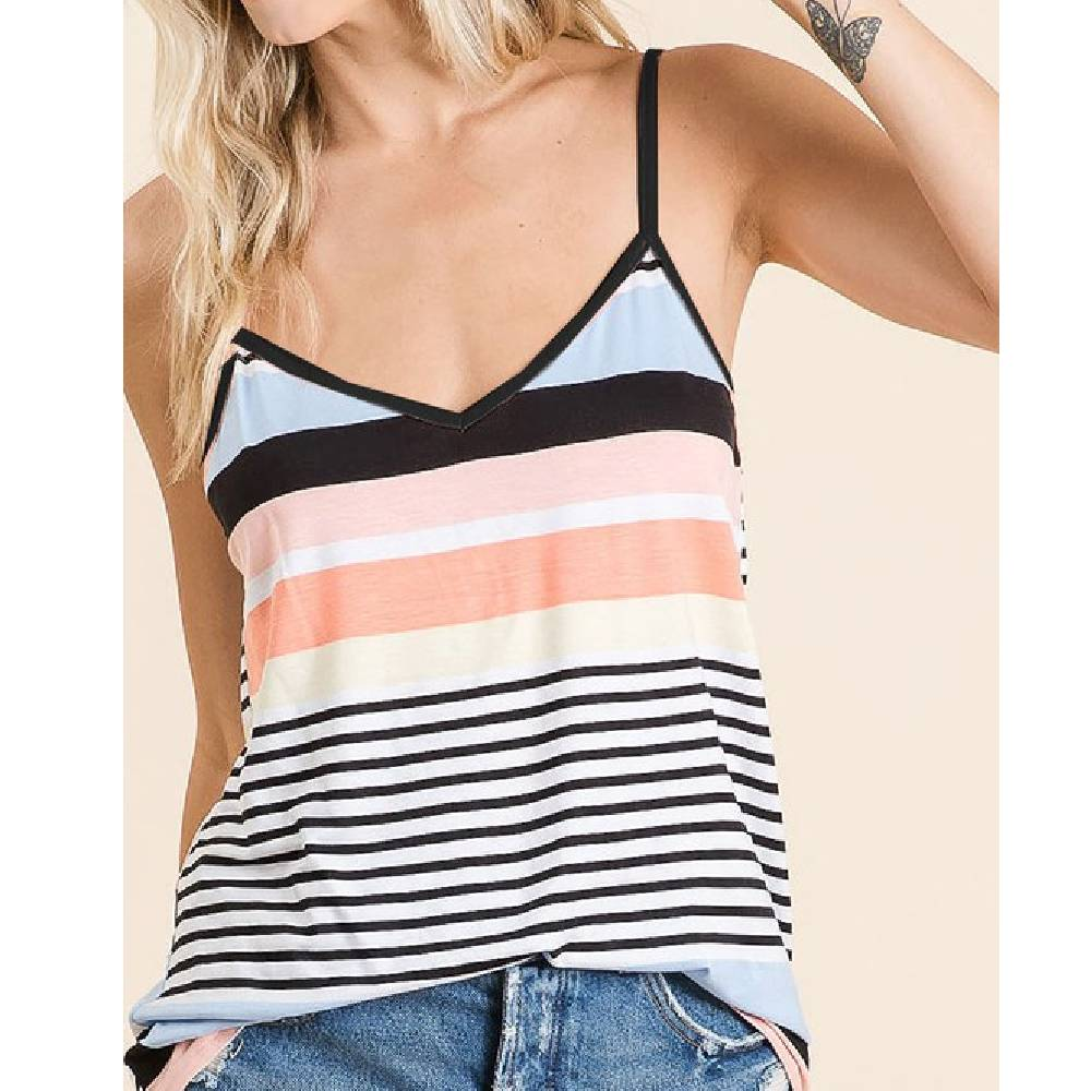 Striped Cami WOMEN - Clothing - Tops - Sleeveless BIBI CLOTHING Teskeys