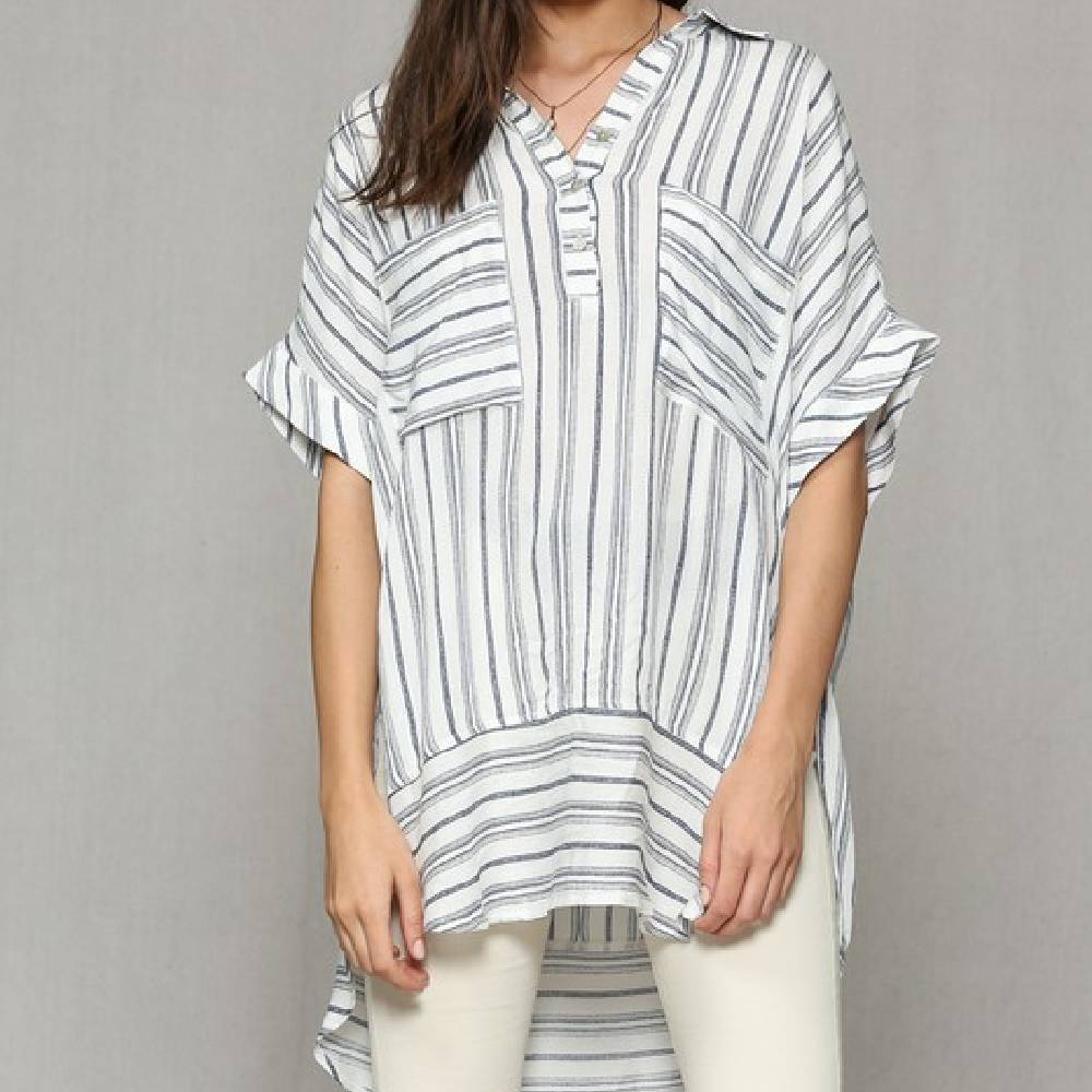 Striped Tunic WOMEN - Clothing - Tops - Tunics BY TOGETHER Teskeys