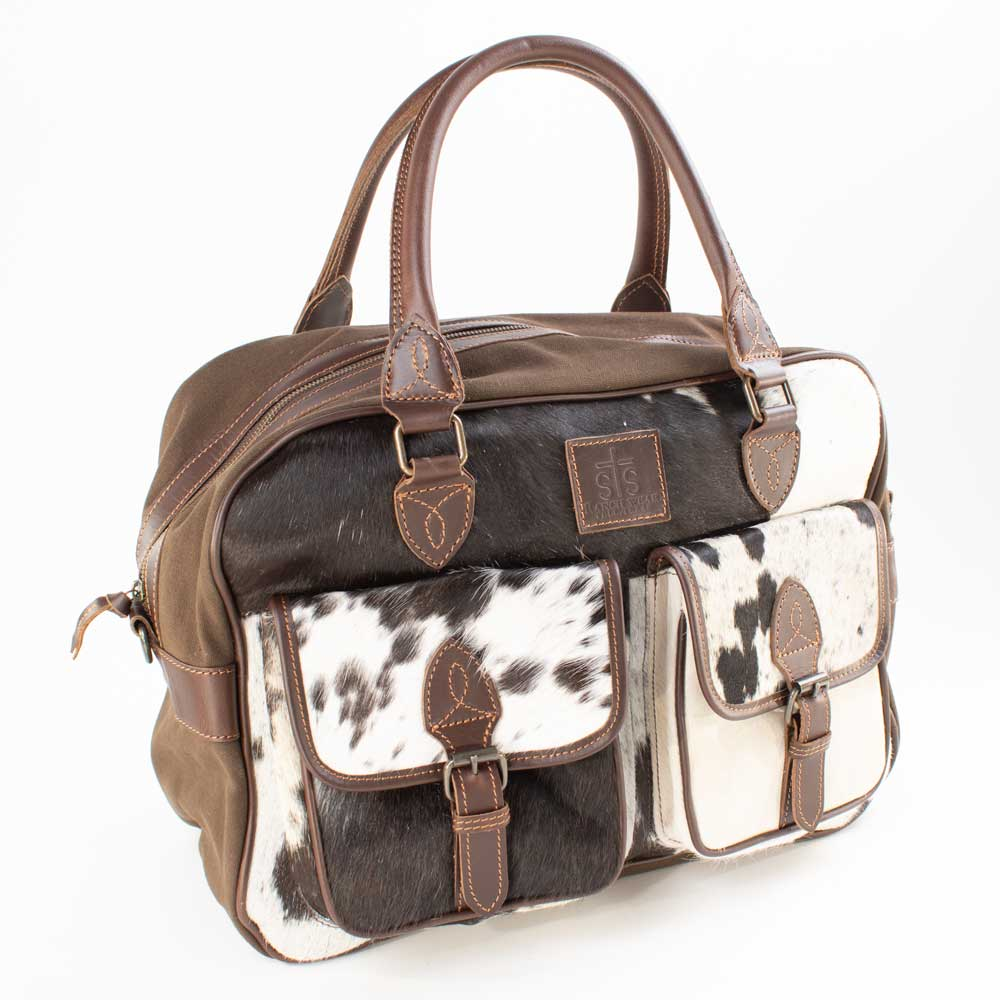 STS Ranchwear Cowhide Weekender ACCESSORIES - Luggage & Travel - Duffle Bags STS Ranchwear Teskeys