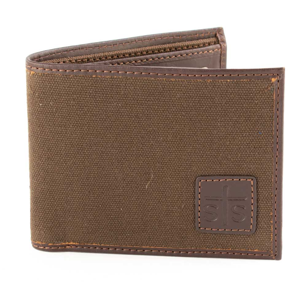 STS Ranchwear Chocolate Canvas Bifold MEN - Accessories - Wallets & Money Clips STS Ranchwear Teskeys