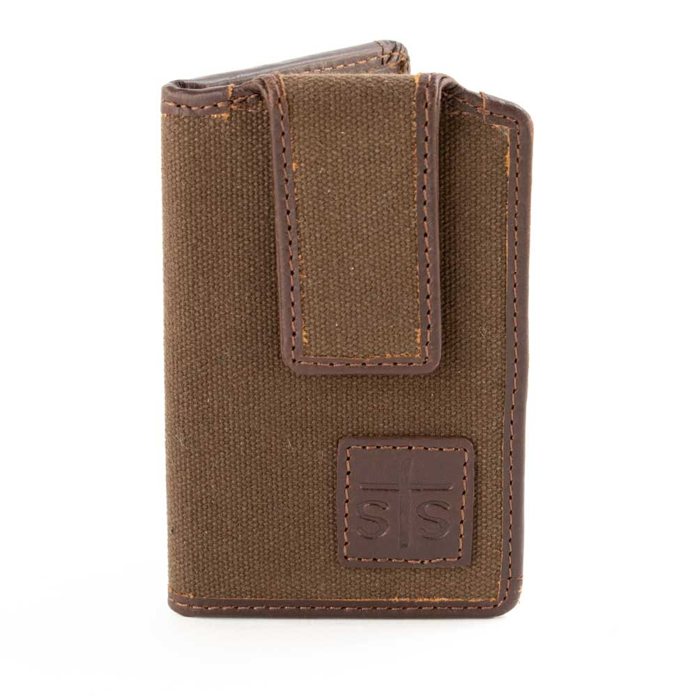 STS Ranchwear Chocolate Canvas Money Clip MEN - Accessories - Wallets & Money Clips STS Ranchwear Teskeys