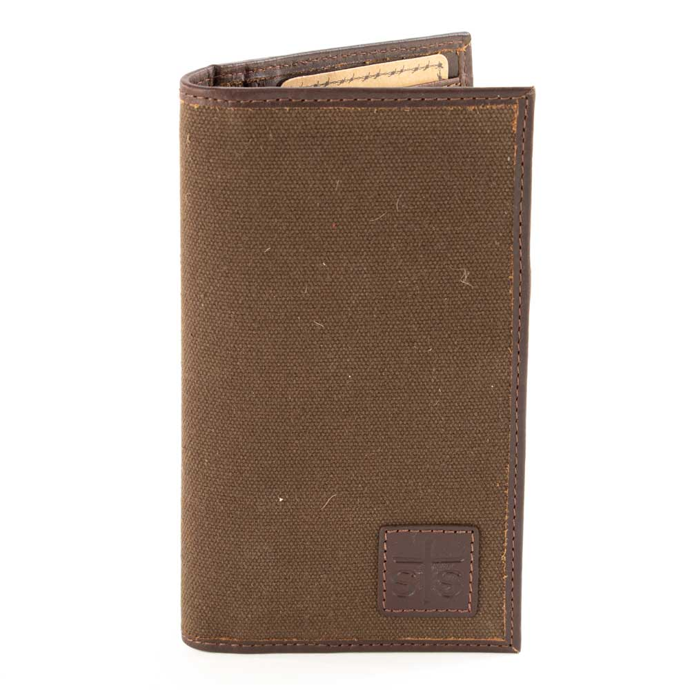 STS Ranchwear Chocolate Canvas Long Bifold MEN - Accessories - Wallets & Money Clips STS Ranchwear Teskeys