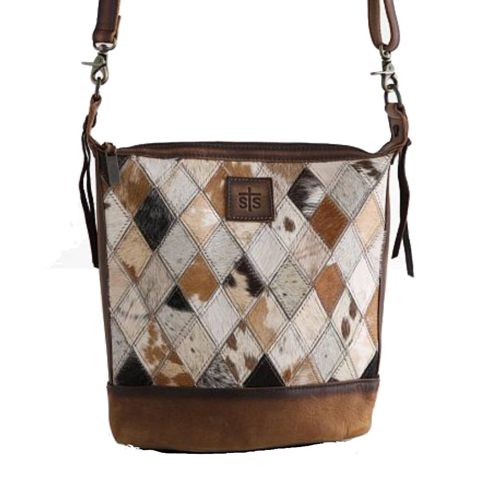 STS Ranchwear Diamond Cowhide Mail Bag WOMEN - Accessories - Handbags - Shoulder Bags STS Ranchwear Teskeys