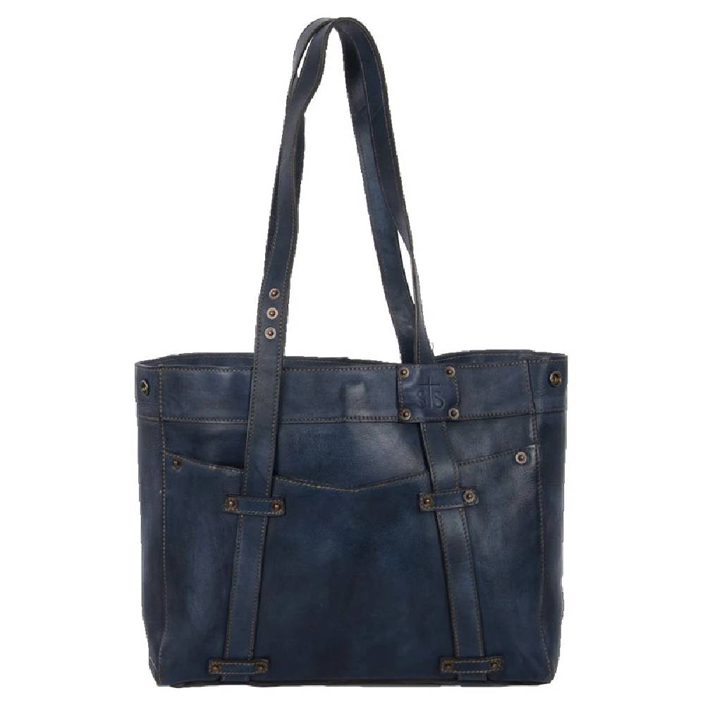 STS Ranchwear Denim Leather Small Tote WOMEN - Accessories - Handbags - Tote Bags STS Ranchwear Teskeys