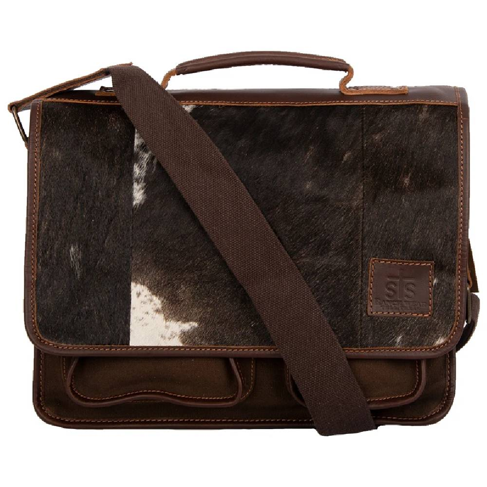 STS Ranchwear Cowhide Messenger ACCESSORIES - Luggage & Travel - Backpacks & Belt Bags STS Ranchwear Teskeys