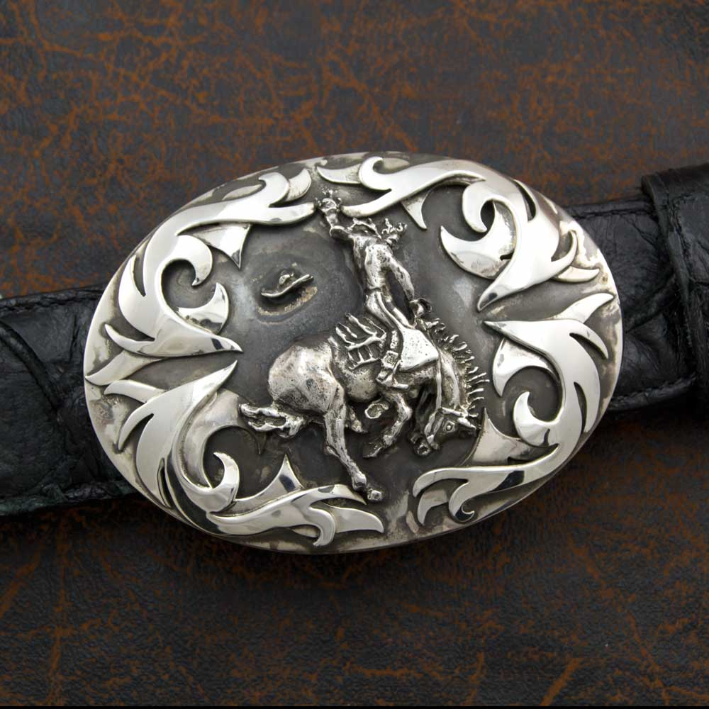 Comstock Heritage Sterling Silver Tribal Bronc Buckle ACCESSORIES - Additional Accessories - Buckles COMSTOCK HERITAGE Teskeys