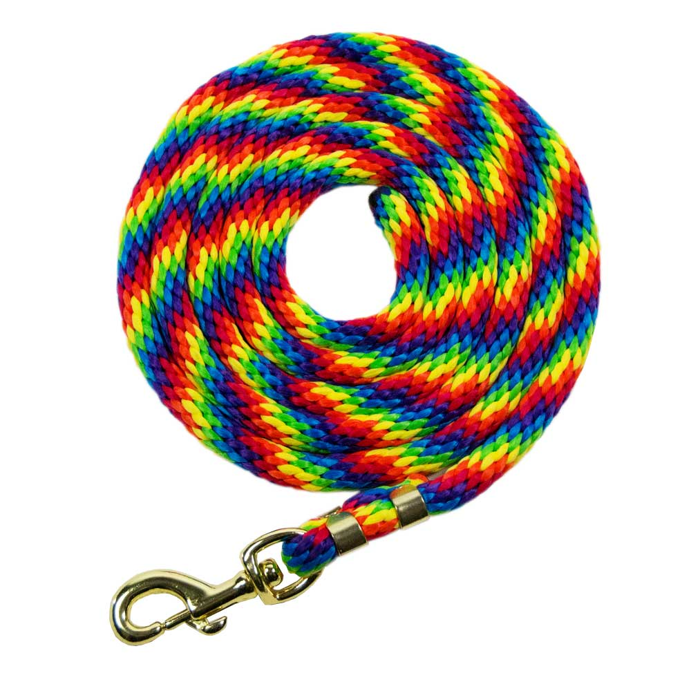 9' Multi Colored Poly Lead with Snap Tack - Halters & Leads Lami-Cell Teskeys