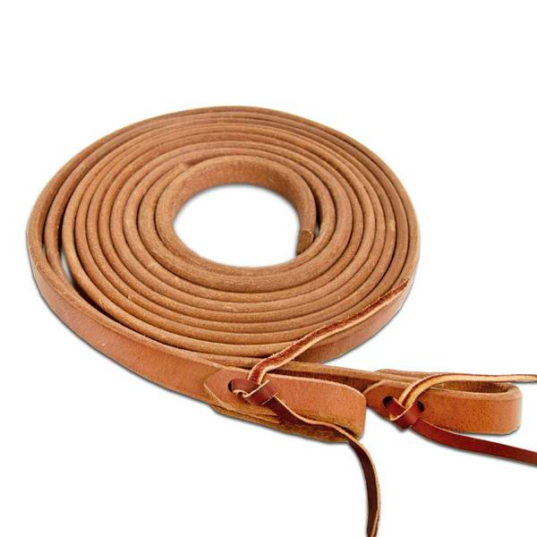 Herman Oak Split Reins - 8' Weighted Leather Tack - Reins Hermann Oak Teskeys