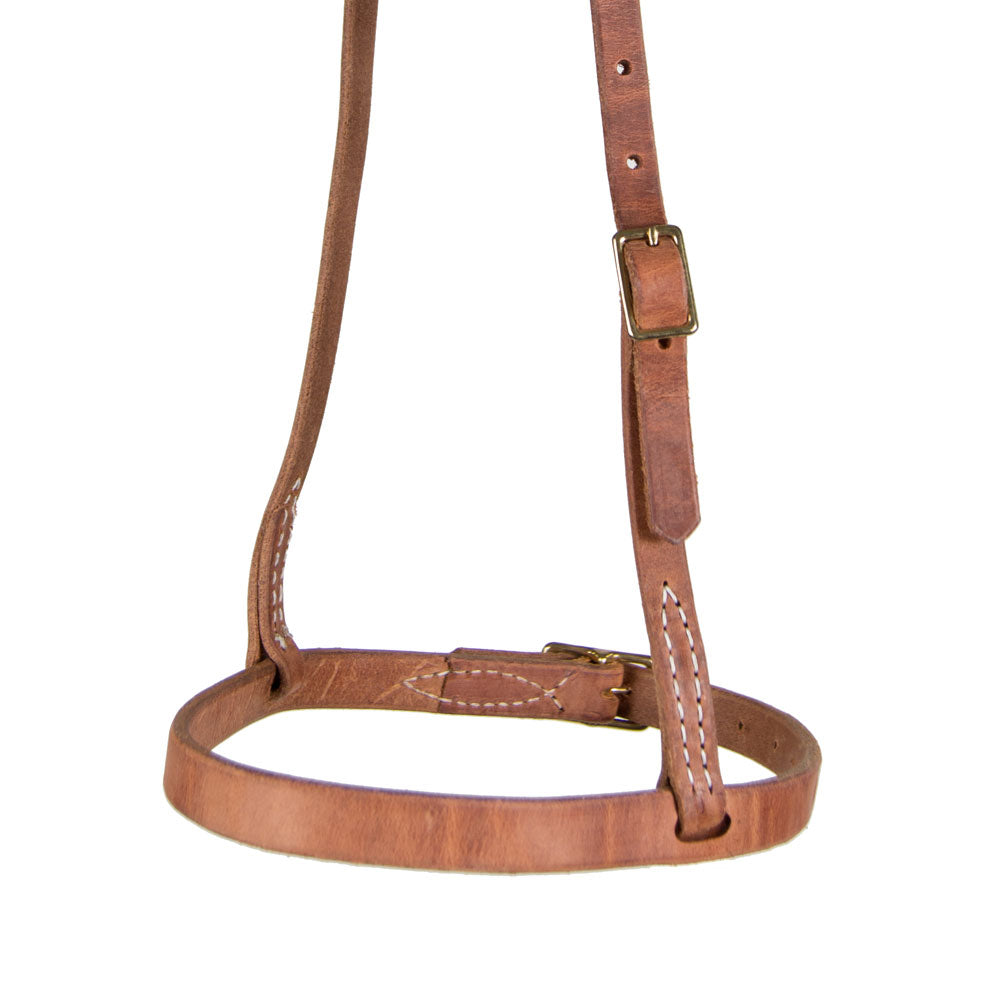 Teskey's Cavesson Noseband- Light or Heavy Oil Tack - Nosebands & Tie Downs Teskeys Teskeys