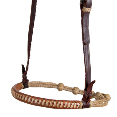 Teskey's Rawhide Cavesson with Leather Nose Tack - Nosebands & Tie Downs Teskey's Teskeys