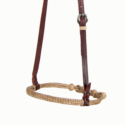 Teskey's Double Braided Rawhide Cavesson Tack - Nosebands & Tie Downs Teskey's Teskeys