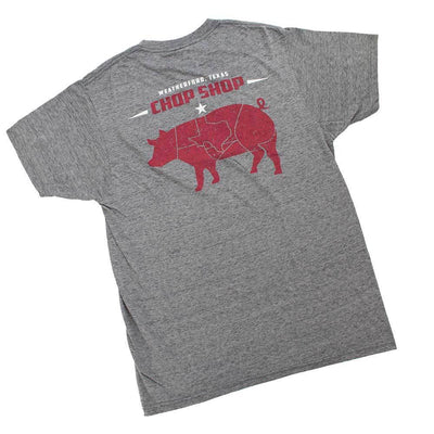 Teskey's Chop Shop Premiun Tee - Salt/Pepper TESKEY'S GEAR - SS T-Shirts OURAY SPORTSWEAR Teskeys