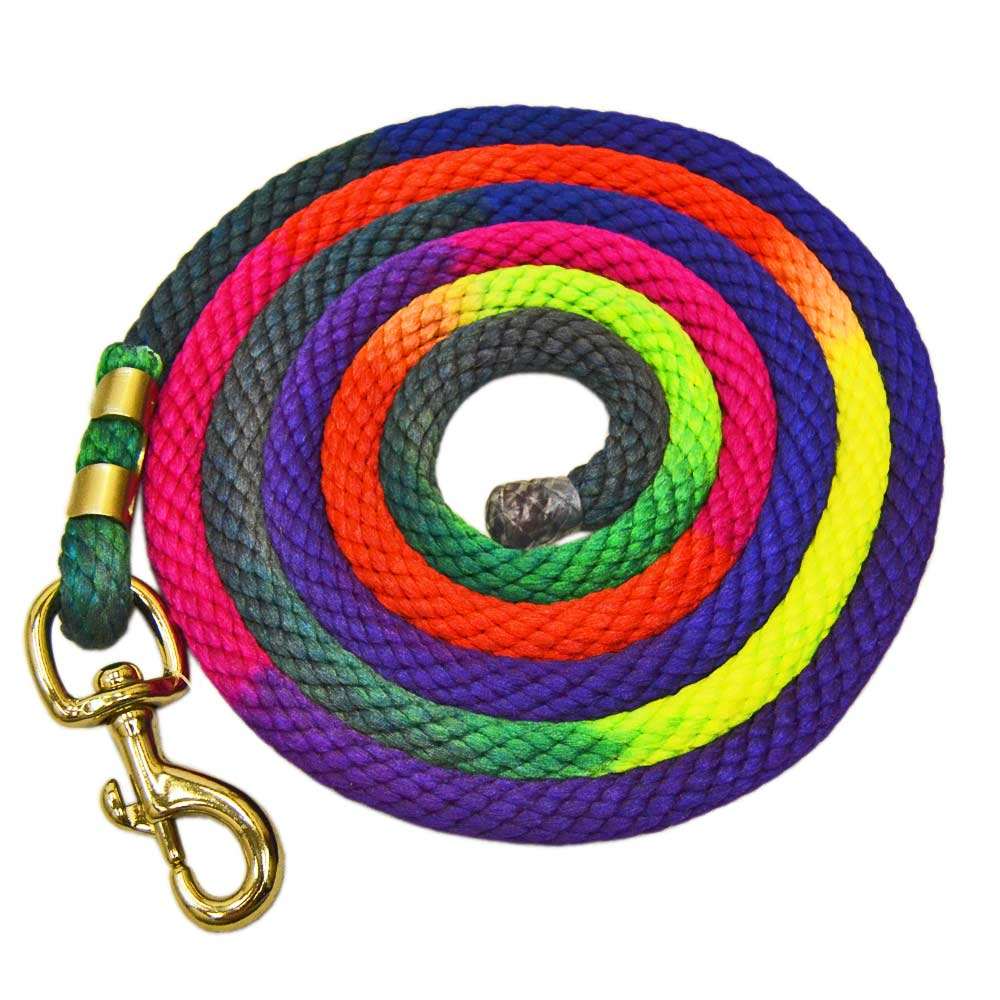 10' Rainbow Poly Lead with Snap Tack - Halters & Leads Teskeys Teskeys