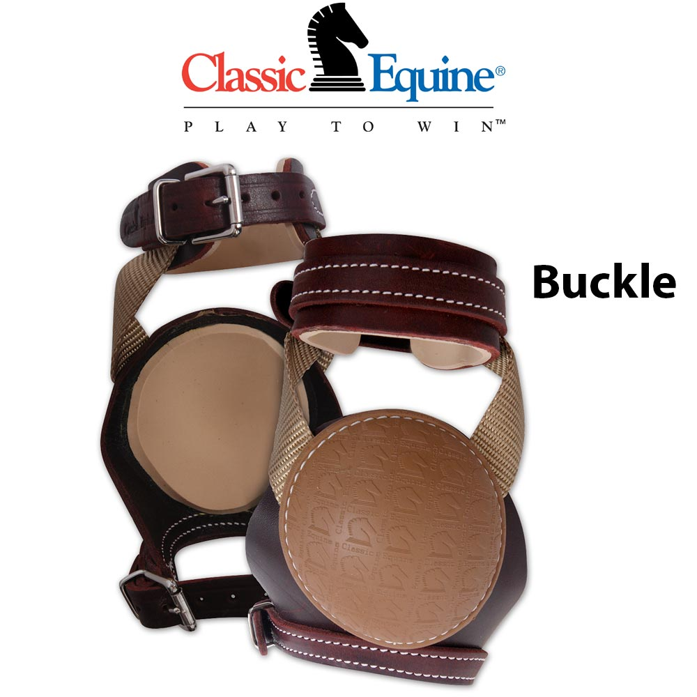 Classic Equine Leather Skid Boots Tack - Leg Protection Classic Equine Teskeys