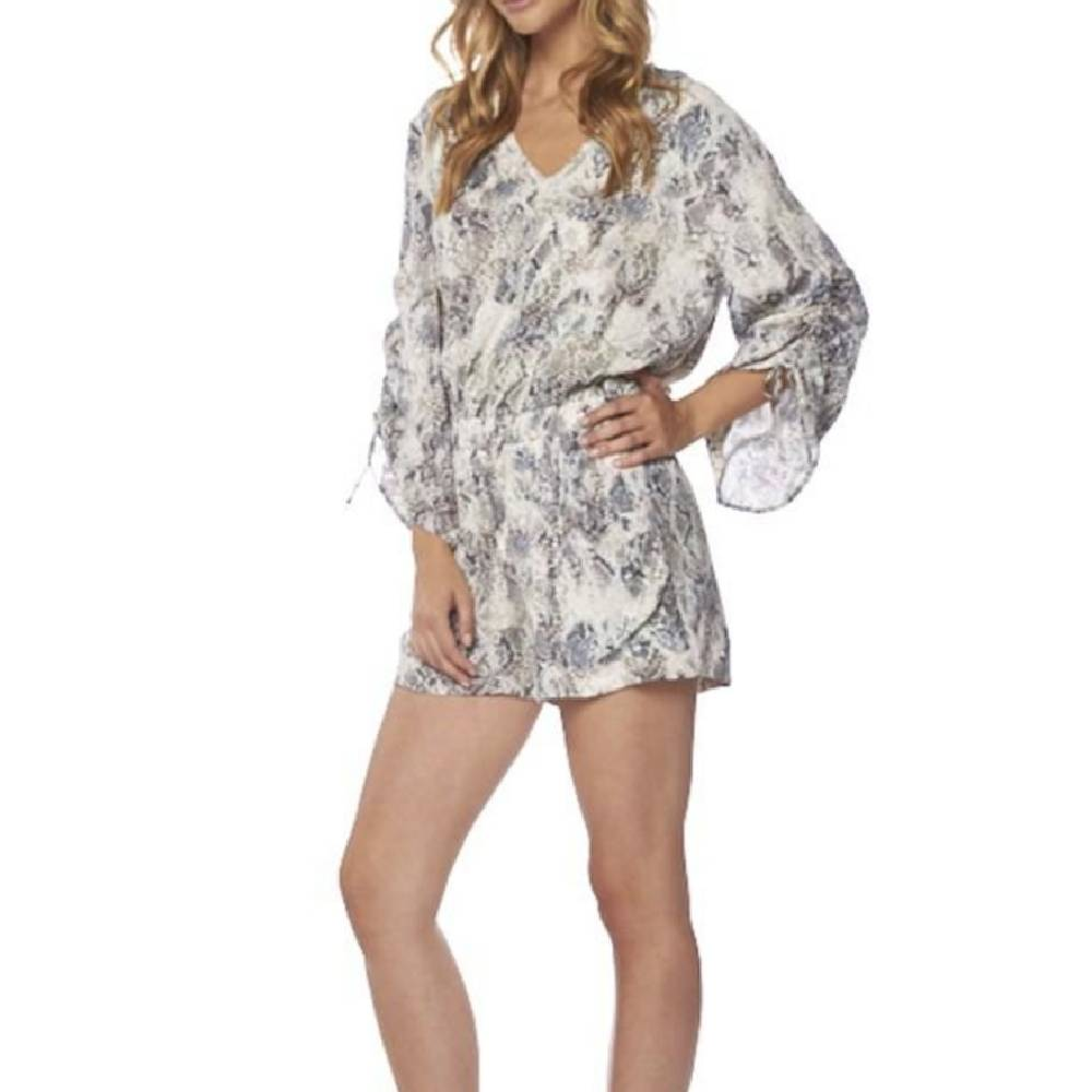Thalia Python Print Romper WOMEN - Clothing - Tops - Tunics ON THE ROAD Teskeys