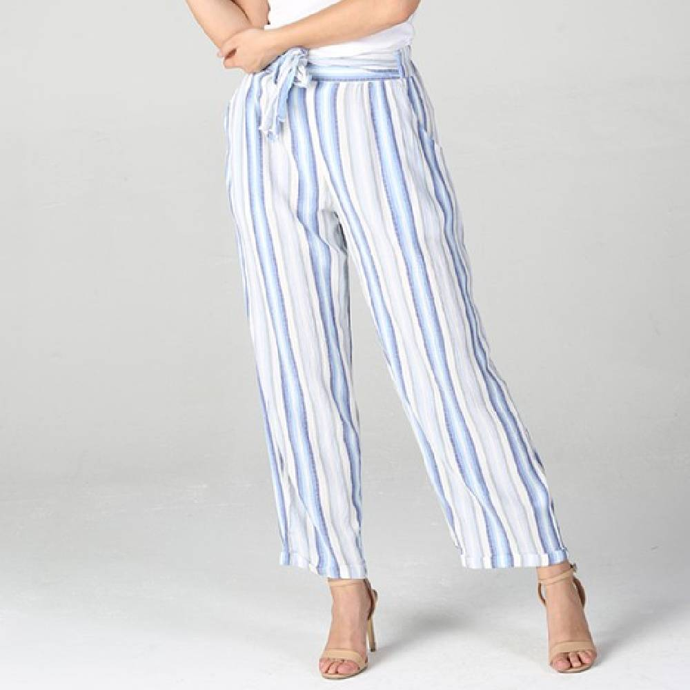 Tie Waist Cuffed Hem Pant WOMEN - Clothing - Pants & Leggings ANGIE Teskeys