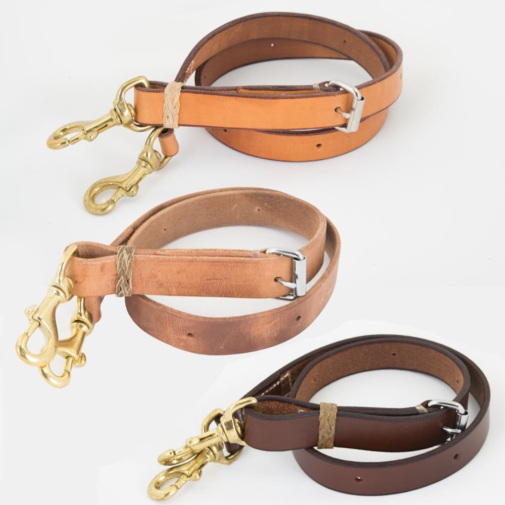 "Teskey's 1"" Tie Down Strap With Rawhide Accents Tack - Nosebands & Tie Downs Teskeys Teskeys"