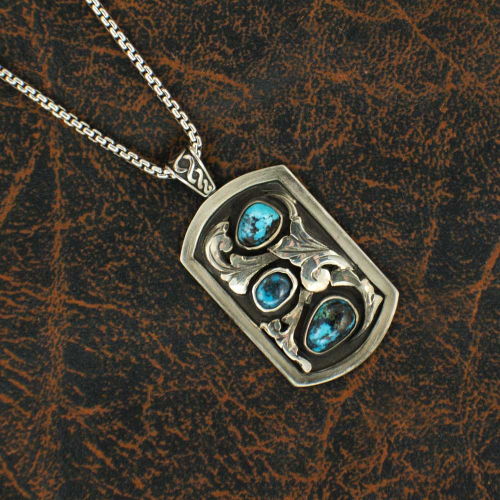 Comstock Heritage Turquoise and 3D Scrolls Necklace