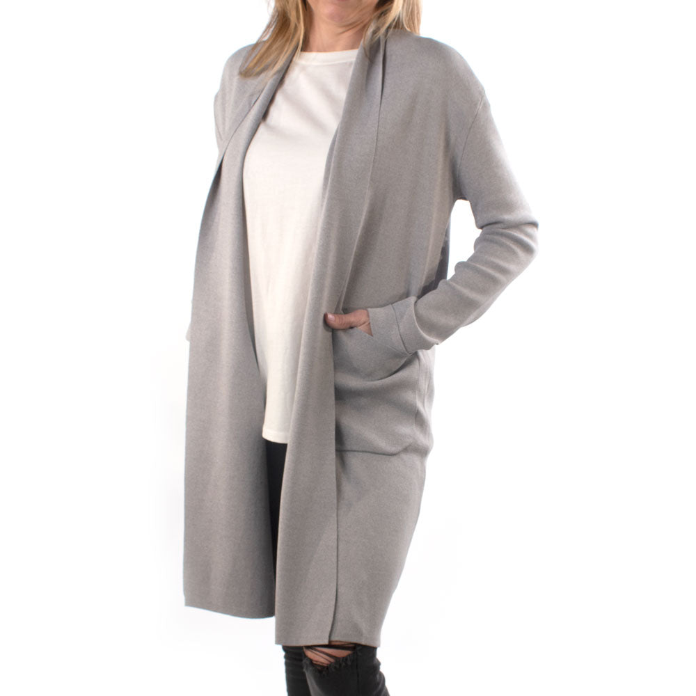 The Jack Cardigan Heather Grey WOMEN - Clothing - Sweaters & Cardigans MOD REF Teskeys
