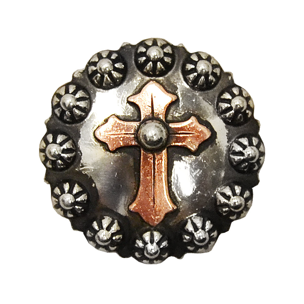 Copper Cross with Sunspots Concho Tack - Conchos & Hardware Teskeys Teskeys