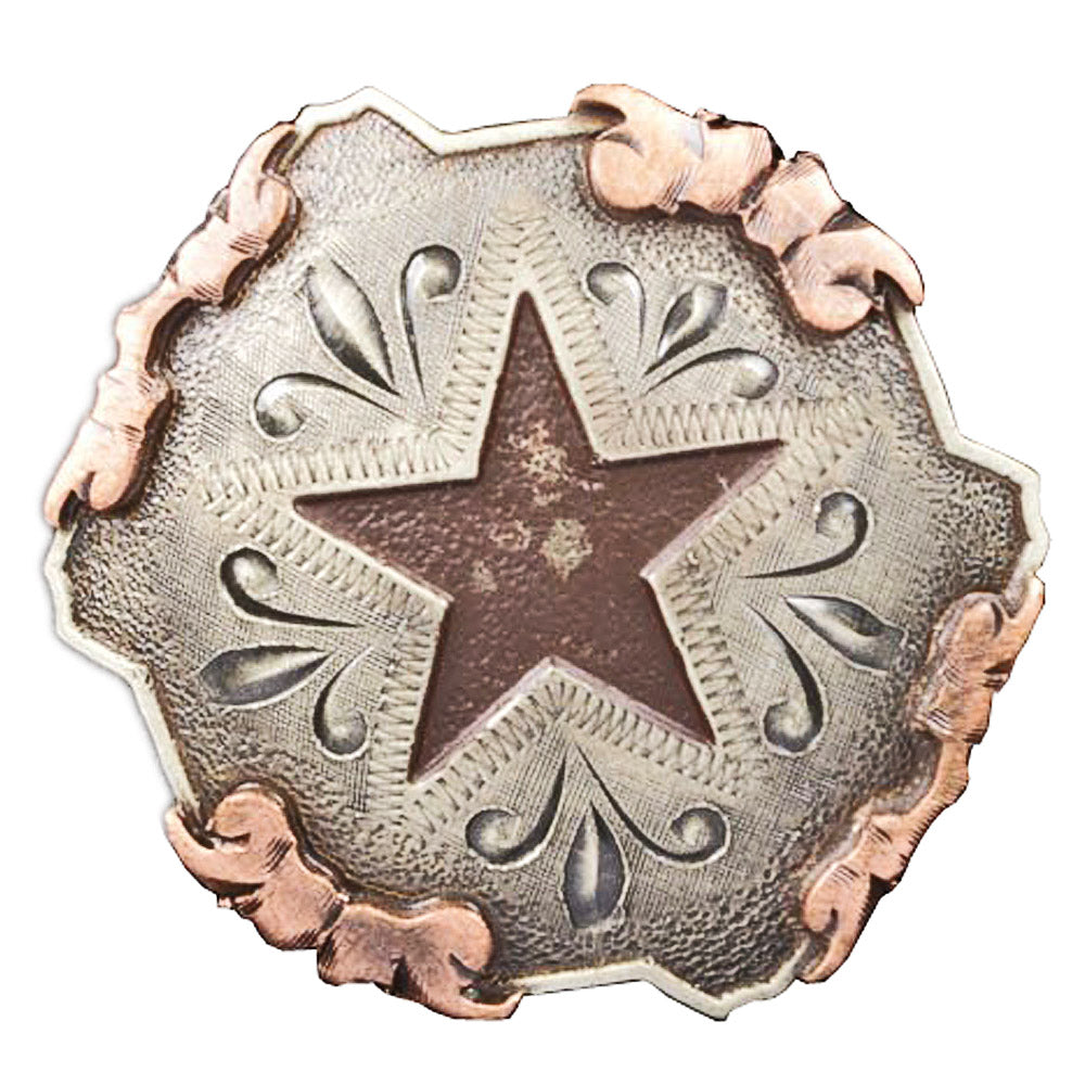 Antique Star Inlay Concho Tack - Conchos & Hardware Teskeys Teskeys