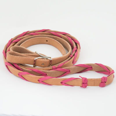 "Teskey's 5/8"" Barrel Rein with Latigo Lacing Tack - Reins Teskey's Teskeys"