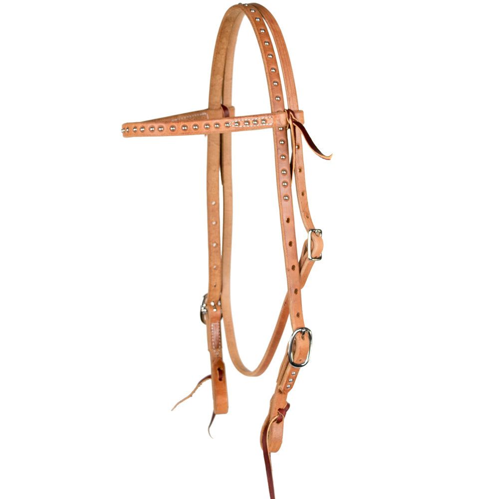Teskey's Silver Dot Browband Headstall Tack - Headstalls - Browband Teskey's Teskeys