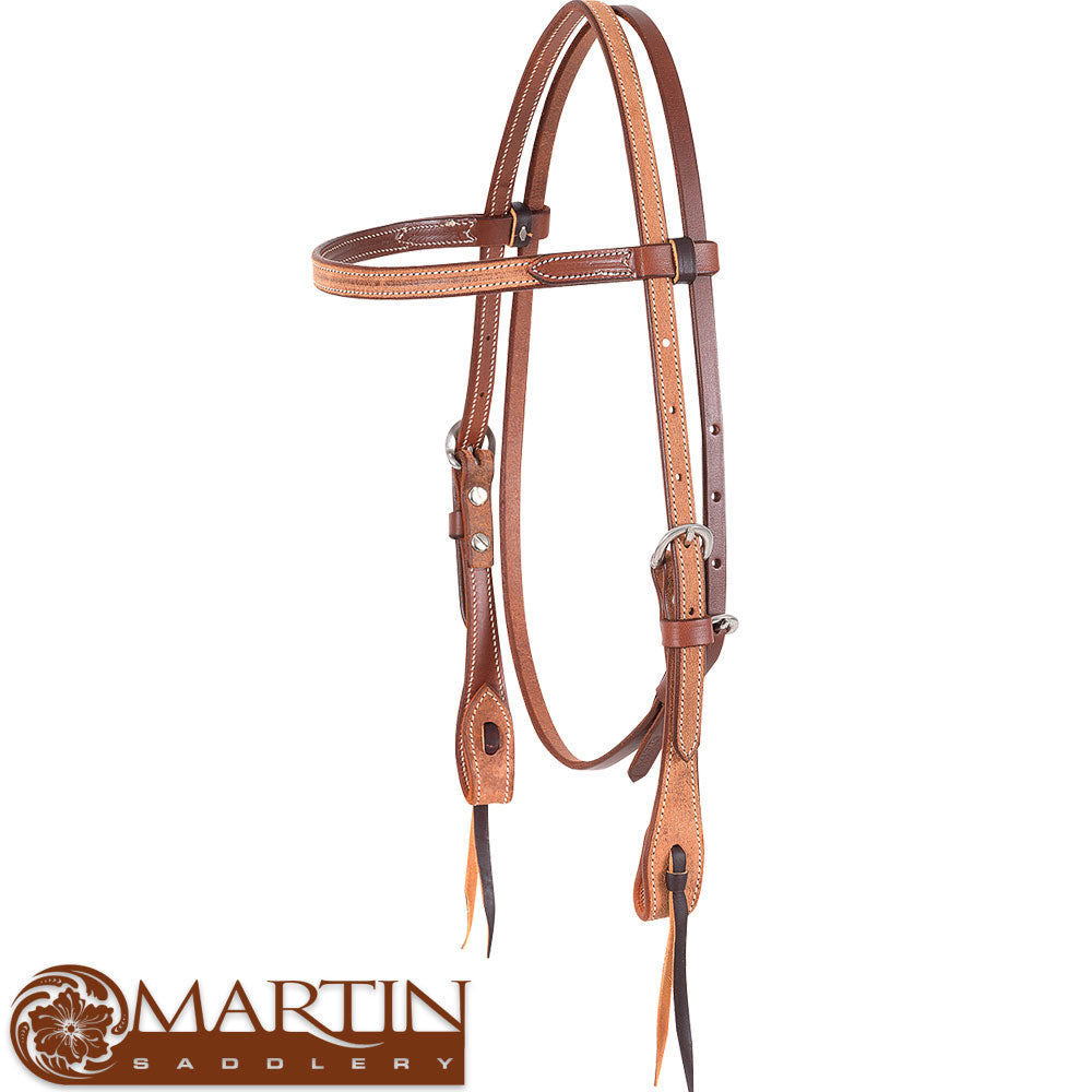 Martin Saddlery Roughout Browband Headstall Tack - Headstalls - Browband Martin Saddlery Teskeys