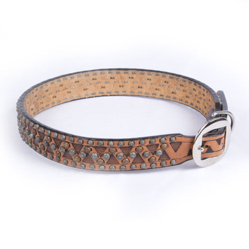 Teskey's Triangle Tooling Dog Collar FARM & RANCH - Animal Care - Pets - Accessories - Collars & Leashes Teskey's Teskeys