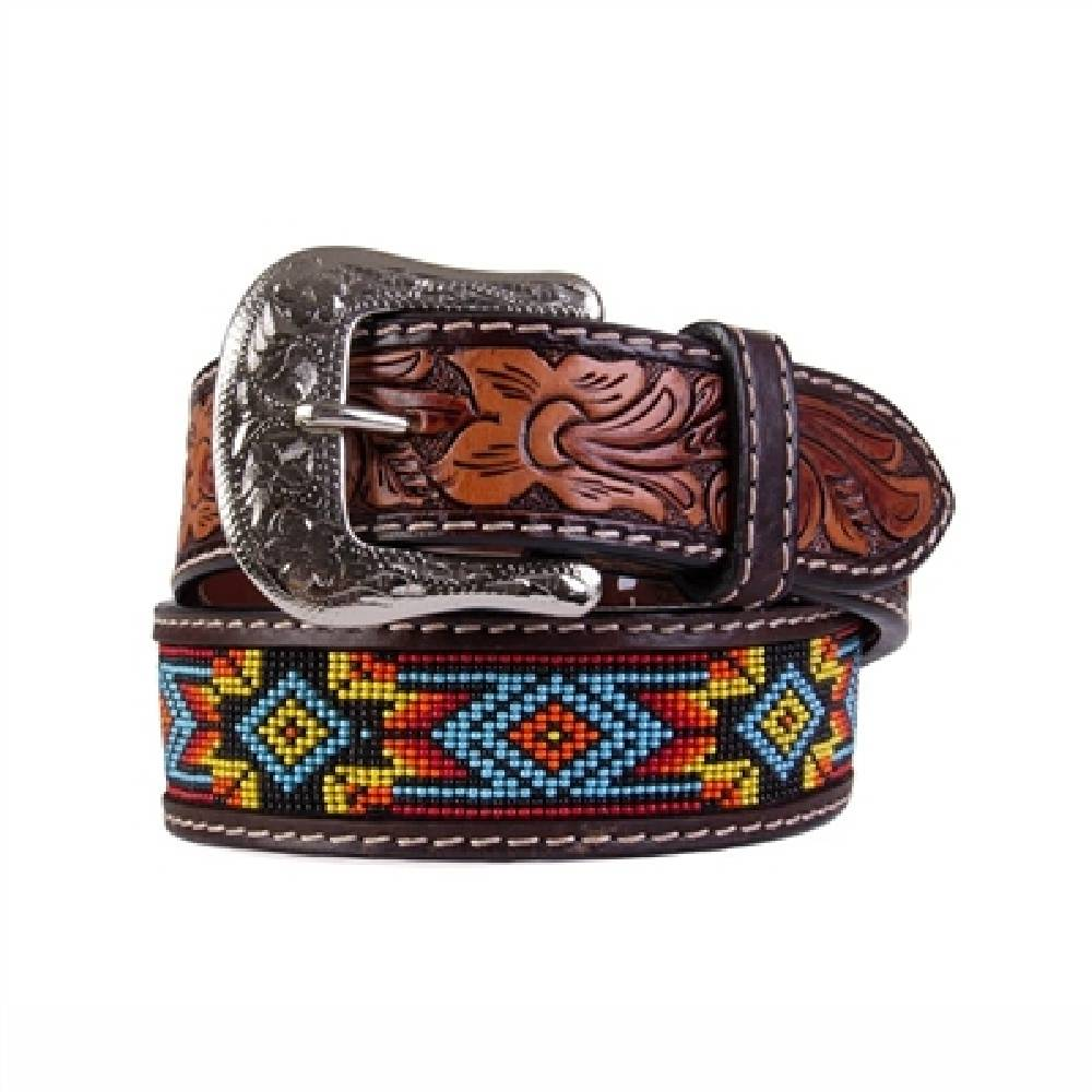 Twisted X Aztec Inlay Beaded Belt MEN - Accessories - Belts & Suspenders WESTERN FASHION ACCESSORIES Teskeys