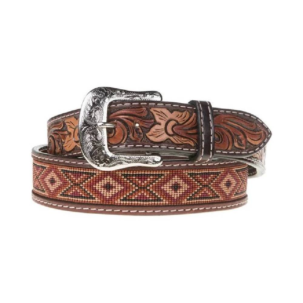 Twisted X Leather Beaded Belt MEN - Accessories - Belts & Suspenders WESTERN FASHION ACCESSORIES Teskeys