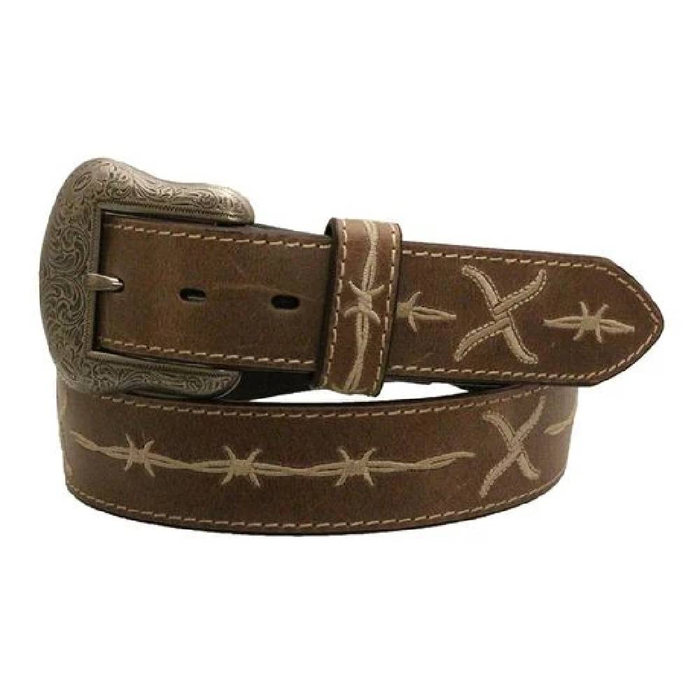 Twisted X Logo Embroidered Belt MEN - Accessories - Belts & Suspenders WESTERN FASHION ACCESSORIES Teskeys