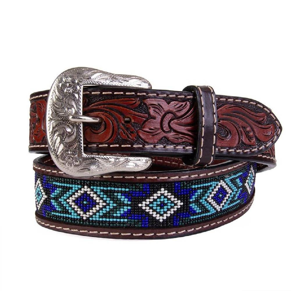 Twisted X Kid's Blue Beaded Belt