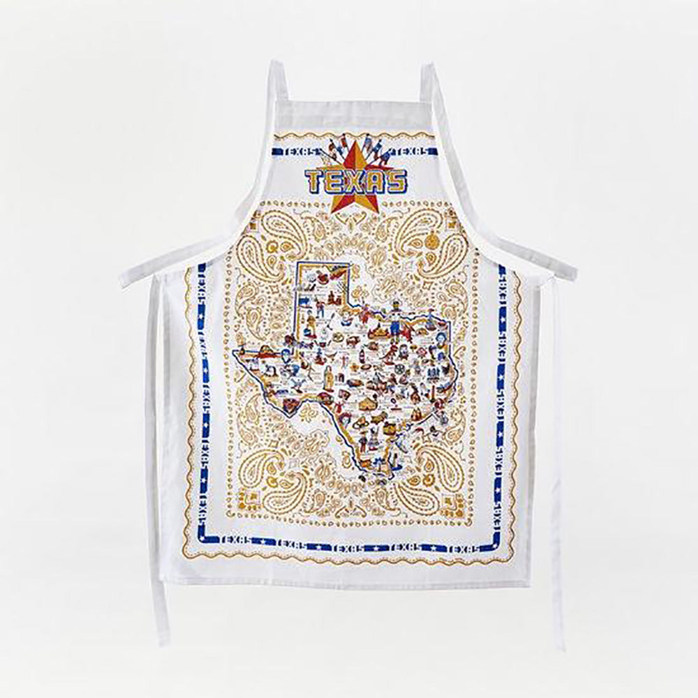 Texas Icons Apron HOME & GIFTS - Tabletop + Kitchen - Kitchen Decor ONE HUNDRED 80 DEGREES Teskeys