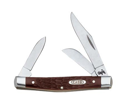 Brown Synthetic Medium Stockman Knives - Knives - Case Case Teskeys