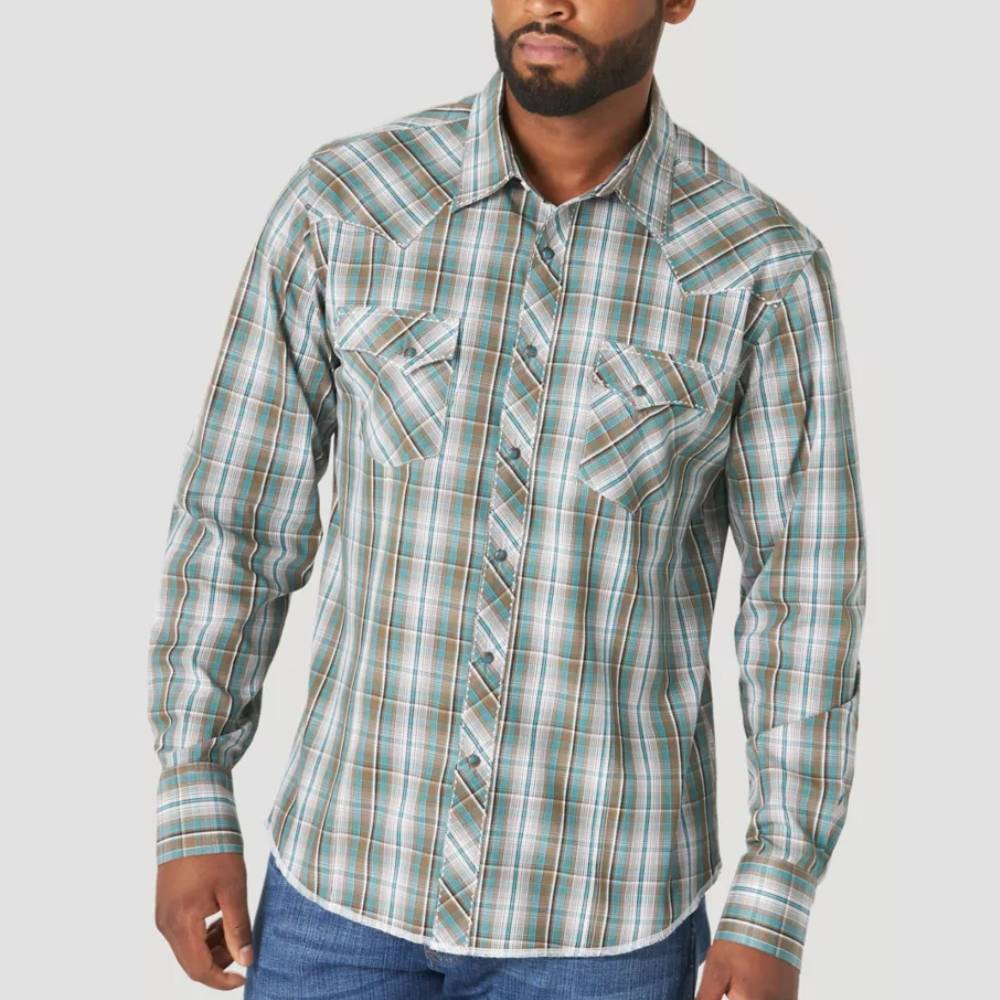 Wrangler Plaid Snap Shirt MEN - Clothing - Shirts - Long Sleeve Shirts WRANGLER Teskeys