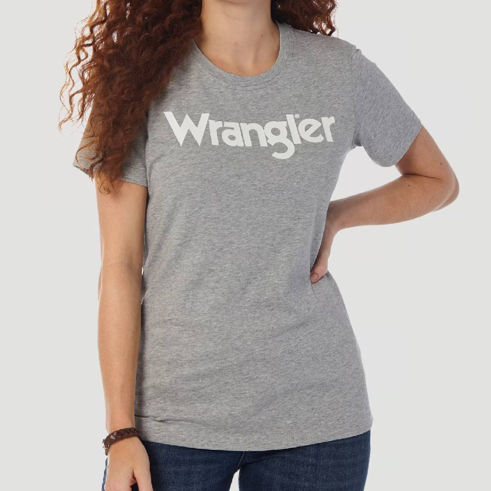 Wrangler Retro Grey Tee WOMEN - Clothing - Tops - Short Sleeved WRANGLER Teskeys