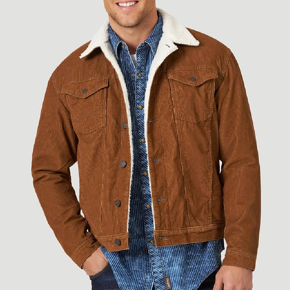 Wrangler Men's Sherpa Lined Corduroy Jacket MEN - Clothing - Outerwear - Jackets WRANGLER Teskeys