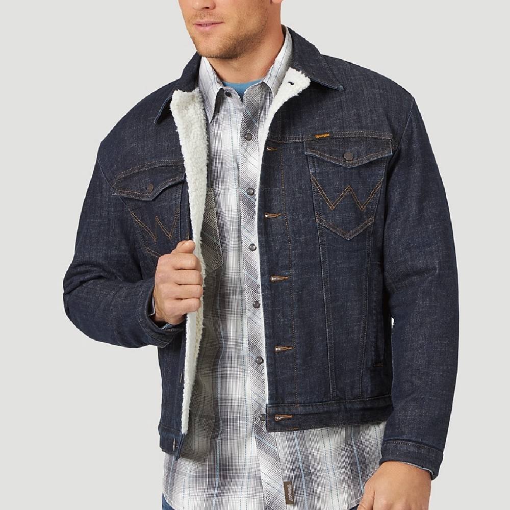 Wrangler Men's Sherpa Denim Jacket MEN - Clothing - Outerwear - Jackets WRANGLER Teskeys